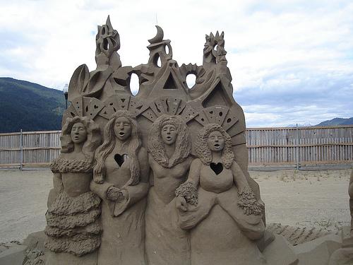 Choeur sur la plage