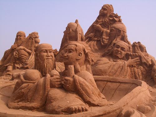 Visages de sable
