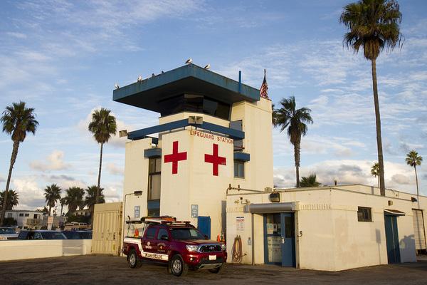 Un poste de secours californien