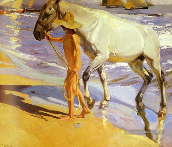 Le bain du cheval