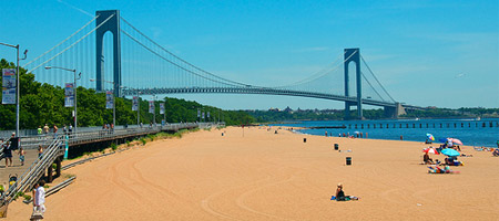 Beach At Staten Island